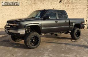 "2004 Chevrolet Silverado 1500 - 20x12 -44mm - Moto Metal MO962 - Suspension Lift 6"" & Body 3"" - 35"" x 12.5"""