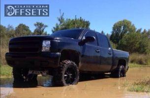 """2011 Chevrolet Silverado 1500 - 20x9 18mm - XD Badlands - Suspension Lift 7.5"""" - 37"""" x 13.5"""""""