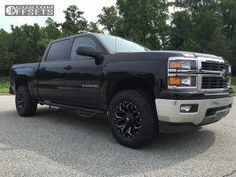 2014 Chevrolet Silverado 1500 - 18x9 1mm - Fuel Assault - Leveling Kit - 275/65R18
