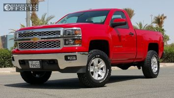 """2015 Chevrolet Silverado 1500 - 17x8.5 31mm - Spaced Out Stockers Spaced Out Stockers - Suspension Lift 3.5"""" - 285/70R17"""