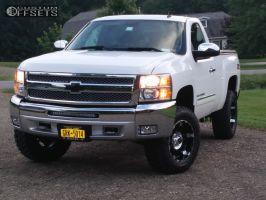 "2012 Chevrolet Silverado 1500 - 18x9 -12mm - Xd Spy - Suspension Lift 3"" - 32"" x 10.5"""