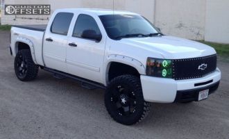 2010 Chevrolet Silverado 1500 - 20x8.5 10mm - XD Rockstar - Leveling Kit & Body Lift - 295/55R20