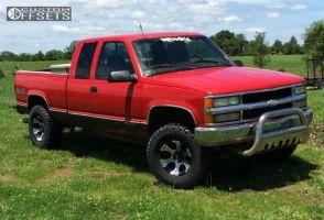 "1997 Chevrolet K1500 - 16x8 -12mm - Dick Cepek Dc-2 - Leveling Kit & Body Lift - 33"" x 11.5"""