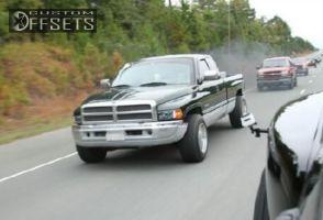 1996 Dodge Ram 2500 - 18x12 -52mm - pacer 185p Baja Champ - Stock Suspension - 285/60R18