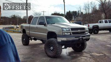"""2003 Chevrolet Silverado 1500 HD - 16x8 0mm - XD Hoss - Lifted >9"""" - 395/70R16"""