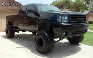 "2008 GMC Sierra 1500 - 15x14 -76mm - Bart Super Trucker - Lifted >9"" - 37"" x 13.5"""