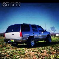 1999 Chevrolet Tahoe - 15x12 -76.2mm - Billet Specialties GS53 - Leveling Kit - 325/60R15