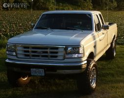 1997 Ford F-250 - 16x10 -38mm - Alloy Ion Style 171 - Leveling Kit - 285/75R16