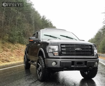 """2009 Ford F-150 - 22x10 -25mm - Hunter Offroad HT81 - Leveling Kit - 35"""" x 12.5"""""""