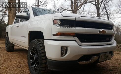 "2017 Chevrolet Silverado 1500 - 20x9 1mm - Fuel Assault - Leveling Kit - 33"" x 12.5"""