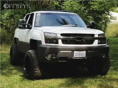 "2003 Chevrolet Avalanche - 20x14 -76mm - Fuel 531 - Suspension Lift 4"" - 33"" x 12.5"""