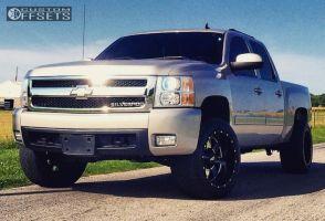 "2010 Chevrolet Silverado 1500 - 20x12 -44mm - Moto Metal MO962 - Suspension Lift 3"" - 305/50R20"