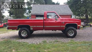 """1985 Chevrolet K10 - 15x7 4mm - Pacer Muscle - Suspension Lift 6"""" - 35"""" x 12.5"""""""