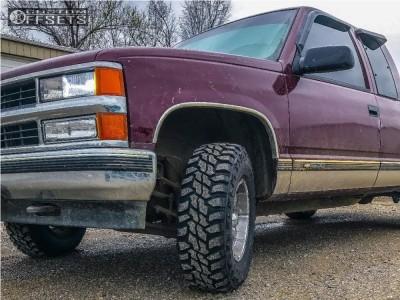 1997 Chevrolet K1500 - 16x8 0mm - Helo He791 - Leveling Kit - 265/75R16