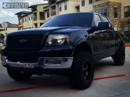 2005 Ford F-150 - 18x10 -24mm - Moto Metal Mo962 - Leveling Kit - 285/65R18