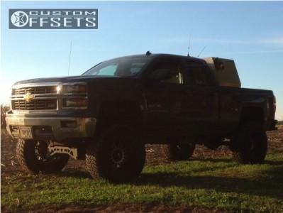 "2014 Chevrolet Silverado 1500 - 20x12 -44mm - Xd Riot - Suspension Lift 9"" - 37"" x 13.5"""