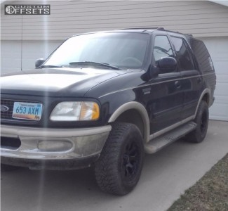 1998 Ford Expedition - 17x9 -12mm - Helo He878 - Stock Suspension - 265/70R17
