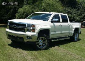 """2014 Chevrolet Silverado 1500 - 20x10 -24mm - Fuel Krank - Suspension Lift 3.5"""" - 295/55R20"""
