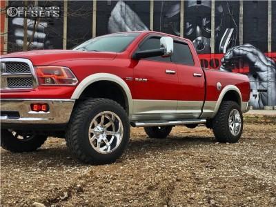 """2009 Dodge Ram 1500 - 20x12 -44mm - Fuel Maverick D536 - Suspension Lift 6"""" - 35"""" x 12.5"""""""
