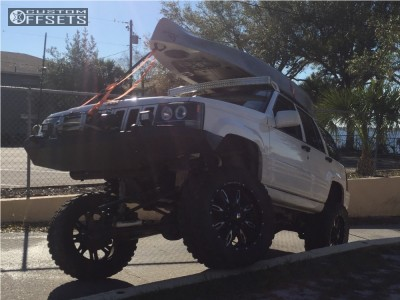 "1998 Jeep Grand Cherokee - 20x9 -12mm - Ballistic Scythe - Suspension Lift 10"" - 33"" x 12.5"""