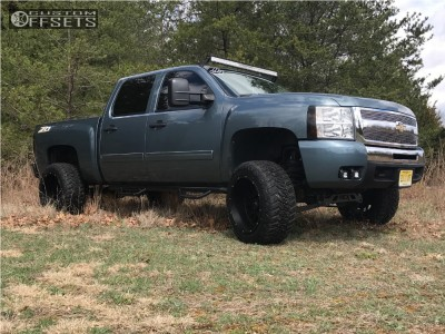 "2011 Chevrolet Silverado 1500 - 20x12 -51mm - Vision Rocker - Suspension Lift 5"" - 33"" x 12.5"""