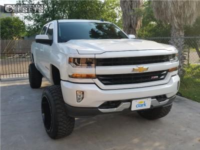 "2017 Chevrolet Silverado 1500 - 22x14 -76mm - Hostile Sprocket - Suspension Lift 9"" - 35"" x 12.5"""