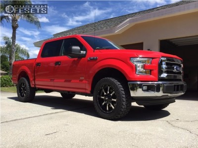 2016 Ford F-150 - 20x9 18mm - Moto Metal MO970 - Leveling Kit - 305/55R20