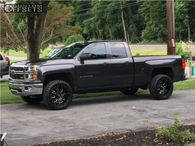 "2014 Chevrolet Silverado 1500 - 20x10 -24mm - Havok H109 - Leveling Kit & Body Lift - 33"" x 12.5"""