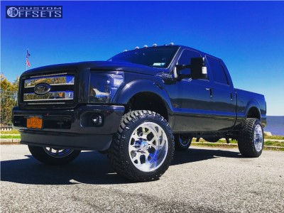 2015 Ford F-350 Super Duty - 22x12 -40mm - American Force Shield Ss - Leveling Kit - 325/50R22
