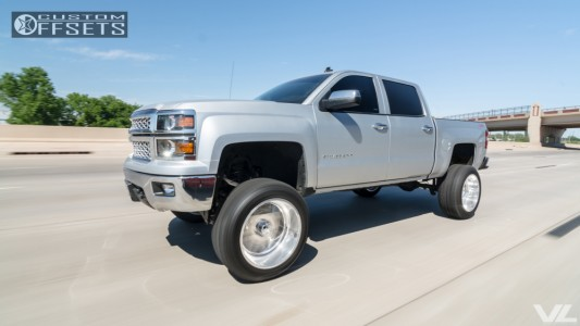 "2014 Chevrolet Silverado 1500 - 22x12 -40mm - American Force TRAX SS - Suspension Lift 10"" - 35"" x 12.5"""