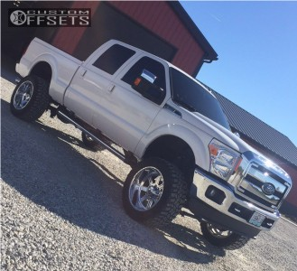 """2016 Ford F-350 - 22x12 -40mm - American Force Hero Ss - Suspension Lift 4.5"""" - 325/50R22"""