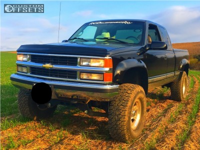 "1997 Chevrolet C1500 - 16x8.5 -6mm - Mb Wheels Battle - Suspension Lift 6"" - 35"" x 12.5"""
