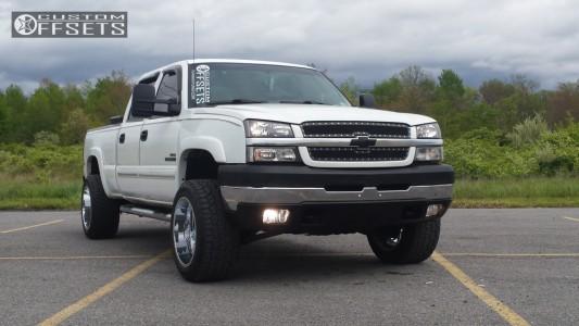 2003 Chevrolet Silverado 2500 HD - 20x12 -44mm - TIS 535C - Stock Suspension - 305/50R20