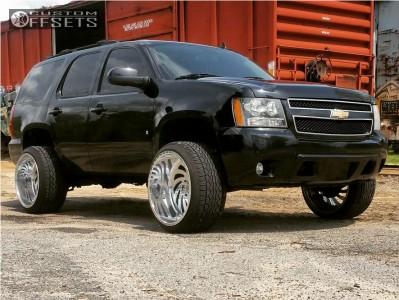 "2009 Chevrolet Tahoe - 24x14 -76mm - Fuel Ff28 - Suspension Lift 5"" - 305/35R24"