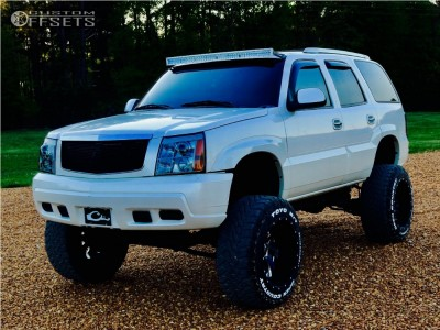 """2003 Cadillac Escalade - 22x14 -70mm - Fuel Cleaver - Lifted >12"""" - 37"""" x 13.5"""""""