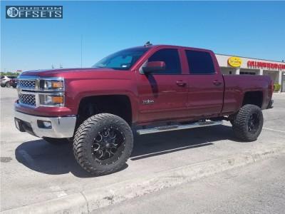 "2015 Chevrolet Silverado 1500 - 20x10 -25mm - Mayhem Warrior - Suspension Lift 7.5"" - 35"" x 12.5"""
