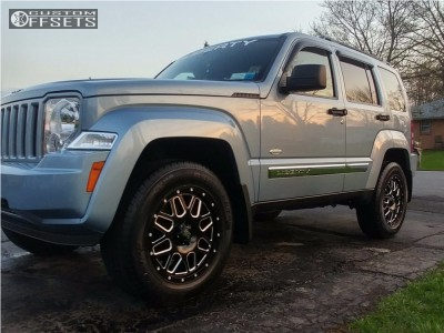 2012 Jeep Liberty - 18x8 38mm - XD Xd820 - Leveling Kit - 255/65R18