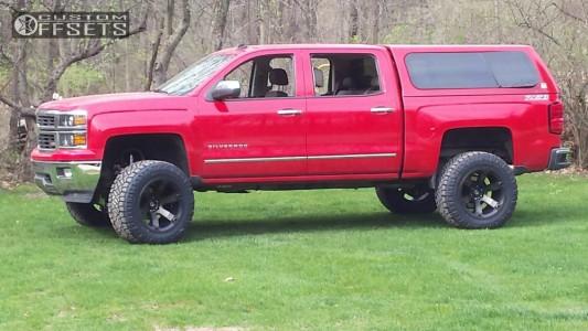 "2014 Chevrolet Silverado 1500 - 20x12 -44mm - Fuel Beast - Suspension Lift 6.5"" - 35"" x 13.5"""