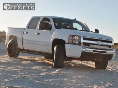 2011 Chevrolet Silverado 1500 - 20x12 -44mm - TIS 535b - Leveling Kit - 275/60R20