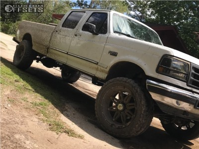 """1997 Ford F-350 - 22x11 -44mm - Fuel Hostage - Leveling Kit - 35"""" x 12.5"""""""