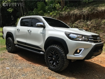 """2017 Toyota Hilux - 18x9 1mm - Fuel Assault - Suspension Lift 2.5"""" - 275/65R18"""