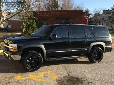 """2001 Chevrolet Suburban - 20x10 -24mm - XD Buck - Leveling Kit - 33"""" x 12.5"""""""