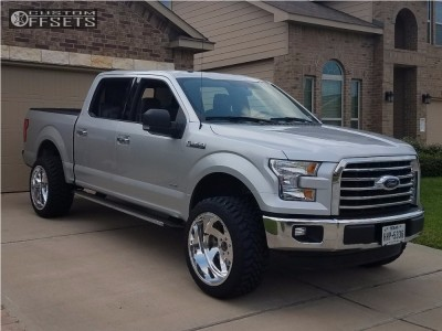 """2016 Ford F-150 - 22x12 -40mm - American Force Spade Ss - Suspension Lift 4.5"""" - 33"""" x 12.5"""""""