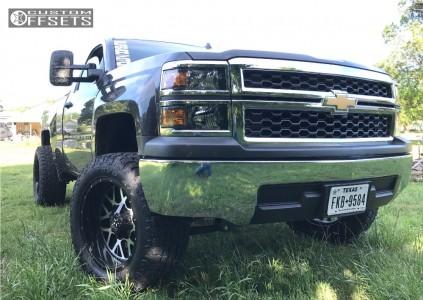 "2014 Chevrolet Silverado 1500 - 20x10 -24mm - Dfd N/a - Suspension Lift 5"" - 305/55R20"