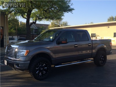 """2011 Ford F-150 - 20x9 0mm - Cali Offroad Anarchy - Leveling Kit - 33"""" x 12.5"""""""