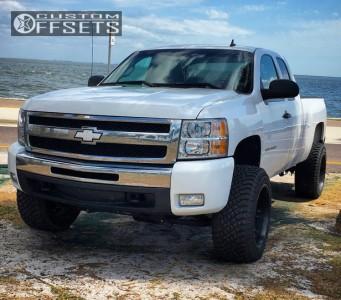 "2011 Chevrolet Silverado 1500 - 20x12 -44mm - Fuel Octane - Suspension Lift 5"" - 33"" x 12.5"""