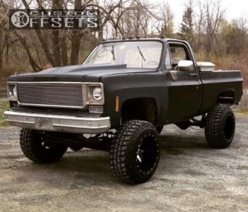 """1978 Chevrolet K10 - 20x14 -76mm - Fuel Maverick D537 - Suspension Lift 6"""" - 35"""" x 12.5"""""""