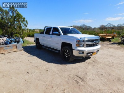 2014 Chevrolet Silverado 1500 - 20x9 0mm - Moto Metal Mo970 - Leveling Kit - 285/55R20