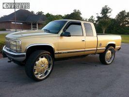 """1997 Chevrolet K1500 - 28x9 0mm - Rockstarr 557 - Suspension Lift 6"""" - 325/35R28"""
