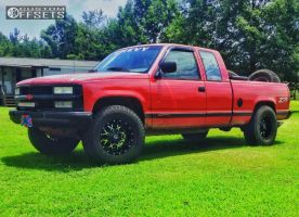 "1992 Chevrolet K1500 - 17x9 -12mm - Dropstars 645mb - Leveling Kit - 35"" x 12.5"""